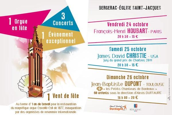Bergerac : un orgue en fête – 24-26 octobre