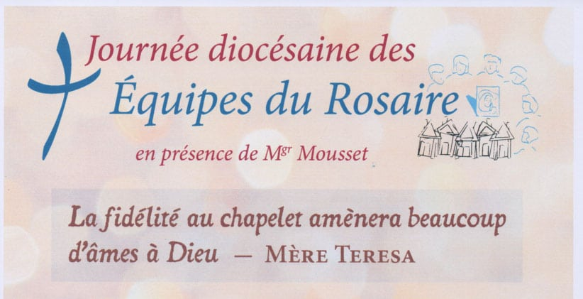 Journée diocésaine du Rosaire – 9 mai