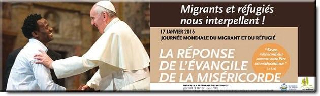 Dimanche 17 janvier : 102ème journée mondiale du Migrant et du Réfugié