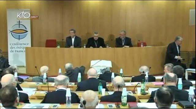 Ouverture de l'Assemblée plénière de printemps de la Conférence de évêques de France